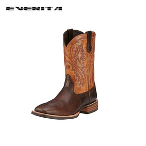"Men's 11"" Wide Square Toe Riding Boots Brown Cowboy Boot"