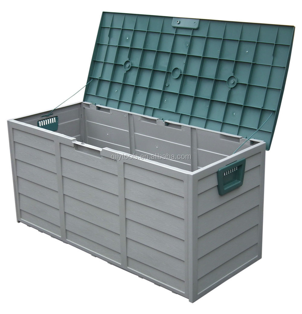outdoor storage box lockable garden tools seat patio warehouse new - Lockable Storage Box