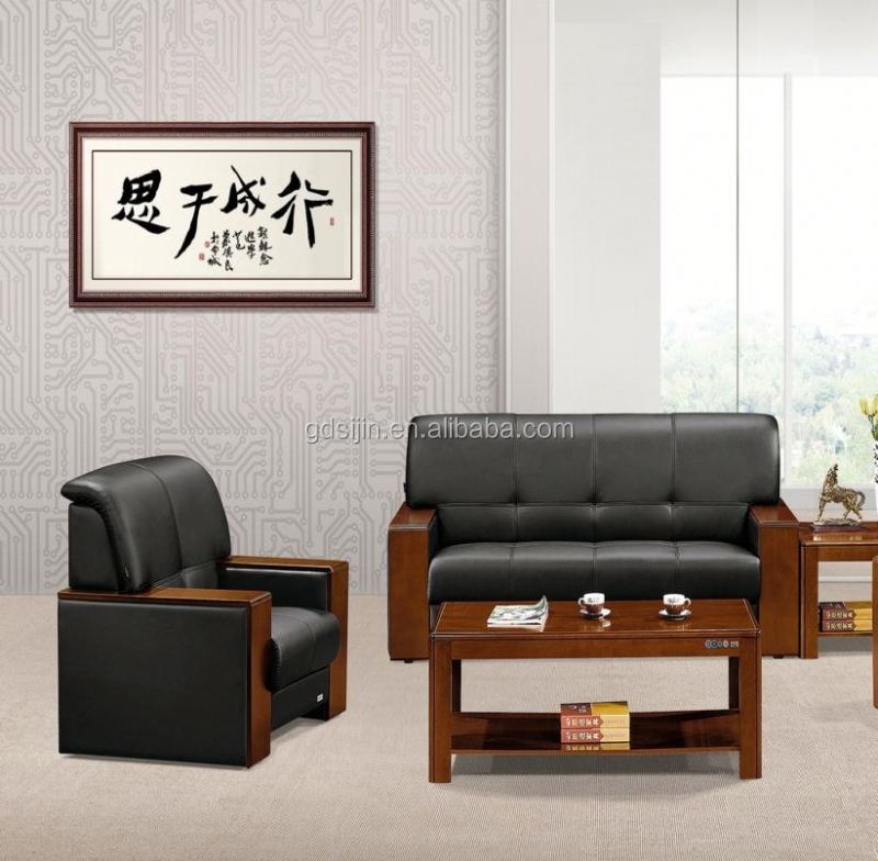 SIJIN 2015 modern wooden frame office sofa, Modern Popular Design Sofa leather