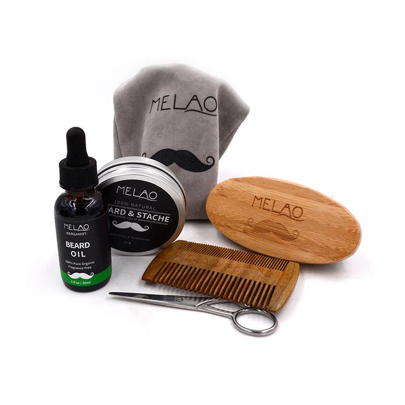MELAO /OEM/ODM Beard oil Grooming & Trimming Kit for Men Care