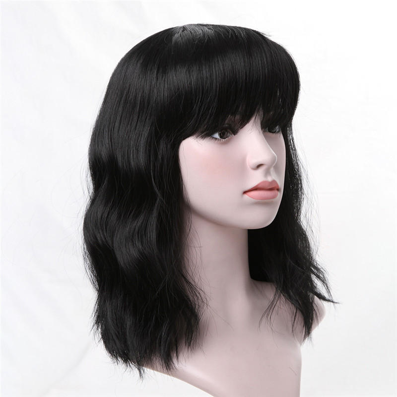 Alibaba.com / Fashion Body Wave Hair Shoulder Length Synthetic Wigs With Bangs