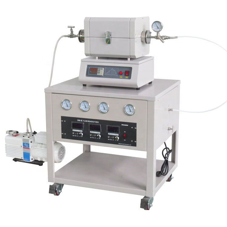 Touch screen mini horizontal electric quartz tube furnace up to 1200 degree for electronic ceramics, special alloy