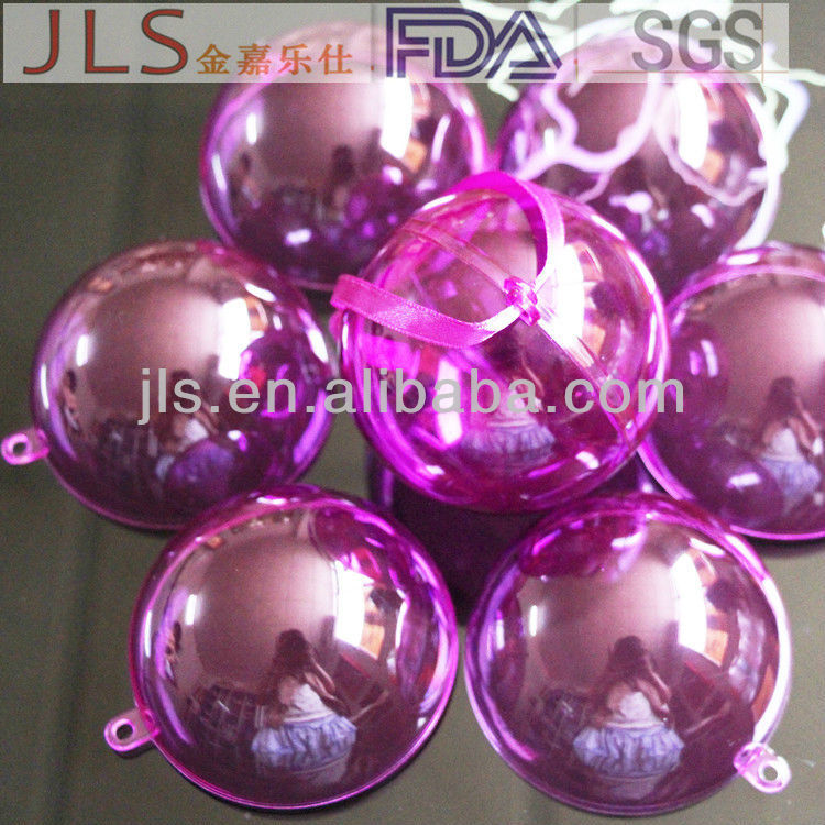 New pattern plastic Xmas tree ball party decorations
