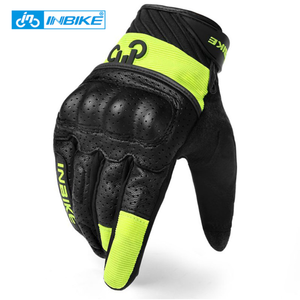 INBIKE Wholesale Autumn Motor Bike Riding Leather Motocross Racing Gloves