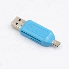 Universal 2 In 1 Micro USB OTG TF/<span class=keywords><strong>SD</strong></span> Multi Adaptor Kartu Memori, Smart <span class=keywords><strong>Card</strong></span> Reader Writer