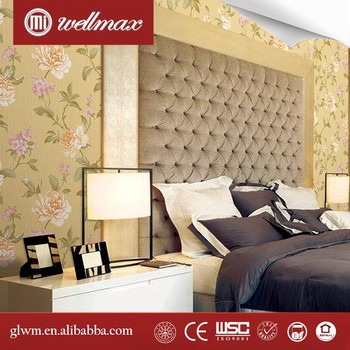 Guangzhou Canton Fair 2016 Chinese Silk Wallcovering Hand Painted Wallpaper