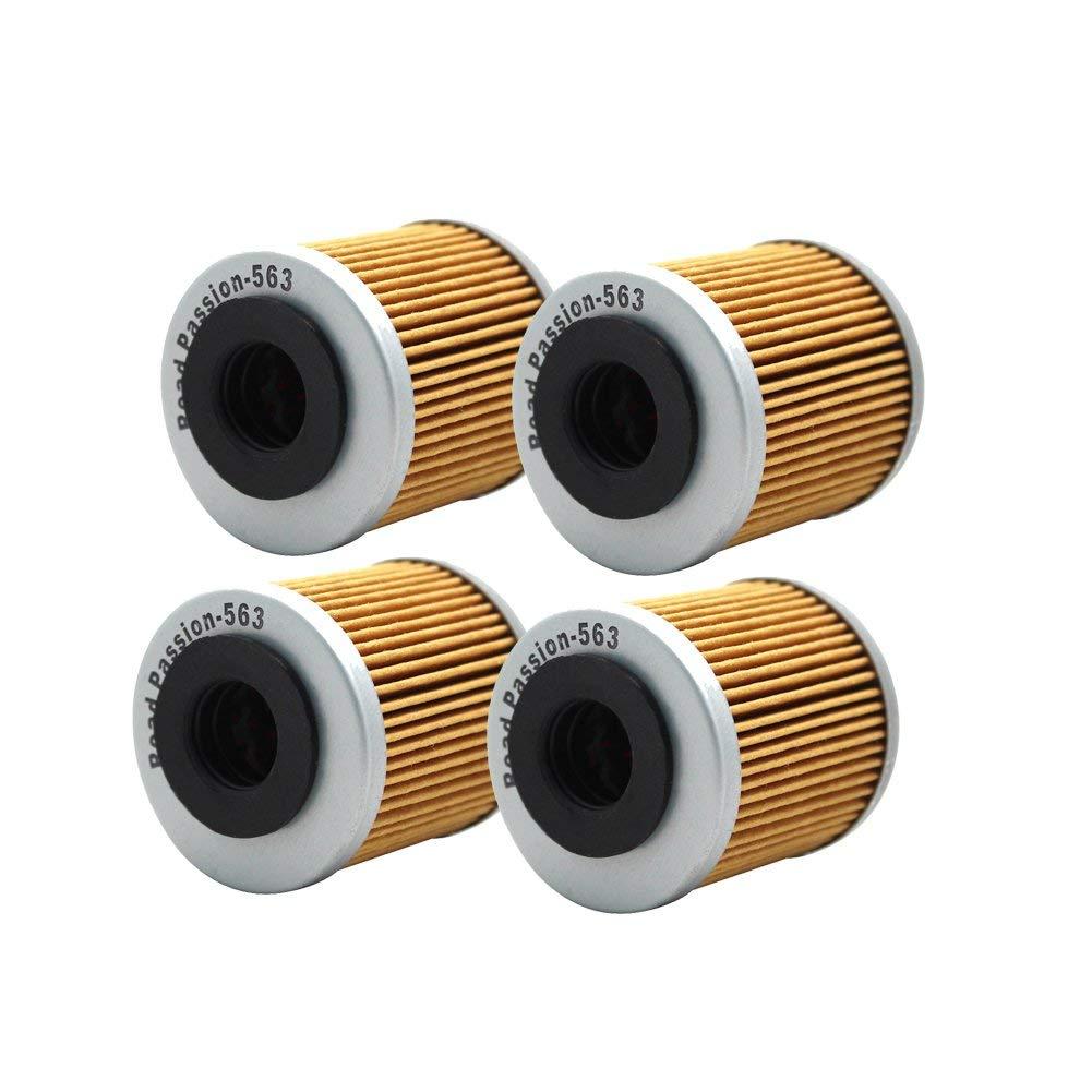 Road Passion Oil Filter for APRILIA SXV450 449 2006-2010/SXV550 549 2006-2012(pack of 4)