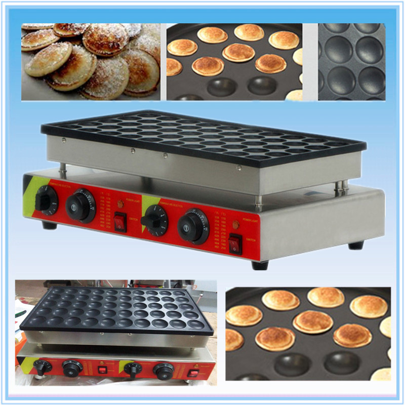 50PCS NO Stick 110v / 220v Electric Mini Dutch Pancake Maker Proffertjes Machine