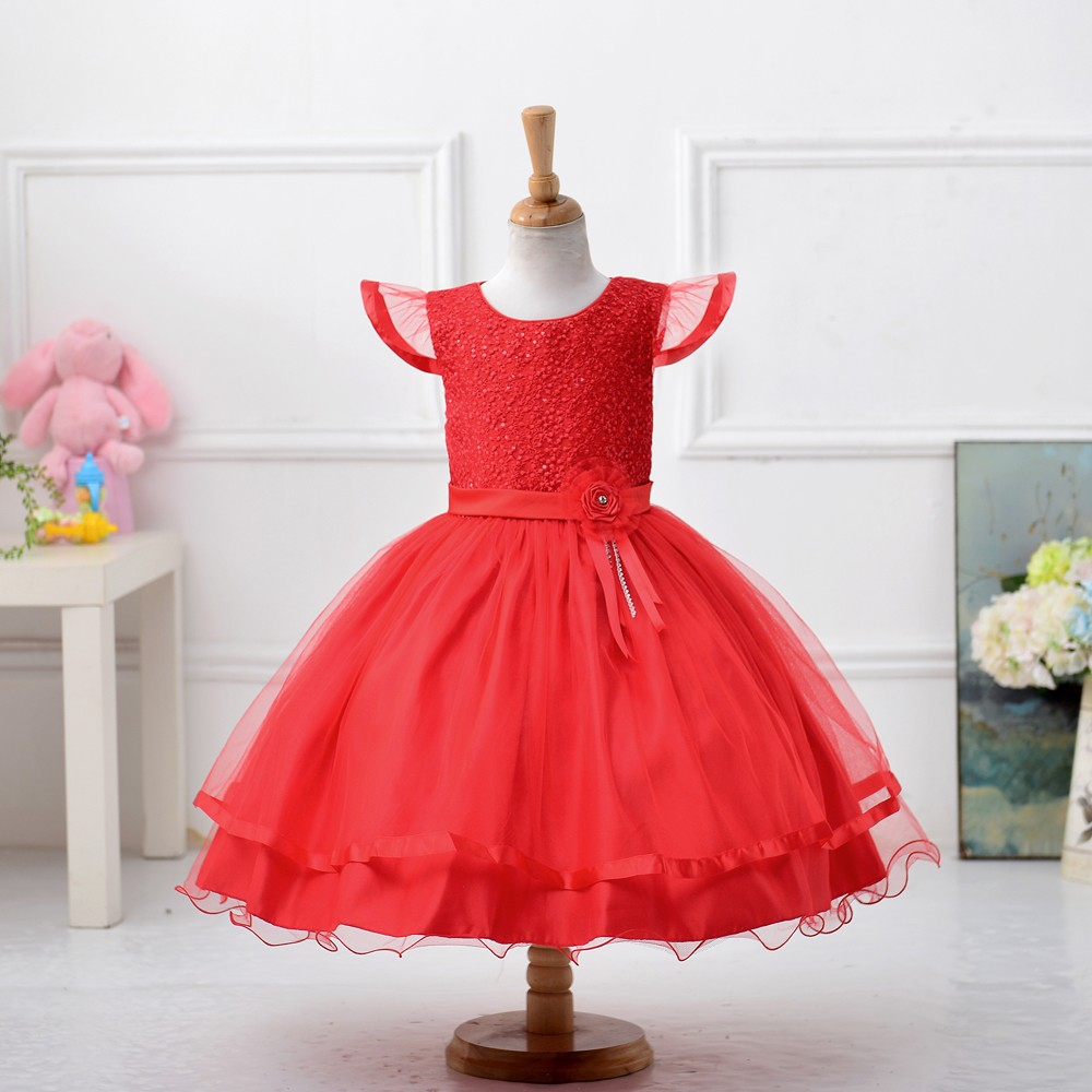 2016 New Design Wedding Party Dress Girls Elegant Baby Dress Tutu ...