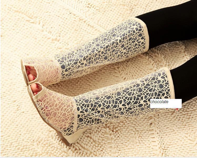 6b3baf908 летние сапоги вязаные сапоги сетка женская обувь-Детские сапоги-ID ...