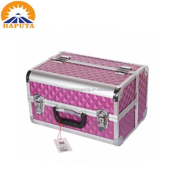 Makeup Train Aluminum Cosmetic Storage Travel Organizer Case