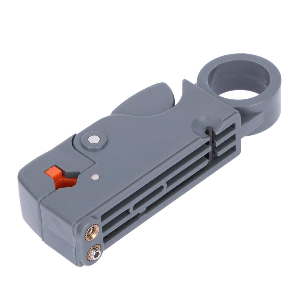LOCHI 1Pc Coaxial Household Multi Tool Cable Stripper/Cutter Tool Rotary Coax Stripper for RG58 6Metal Network Tool Wire Stripper NEW