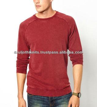 100% Cotton Mens Fleece Acid Washed Sweatshirt - Buy Stone Washed ... 8255a146b