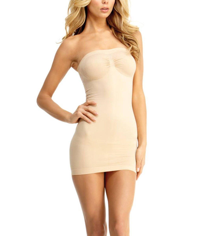 fa6059cd23 Get Quotations · SlimMe Liberina Strapless Control Slip Shaper - Classy  Shapewear