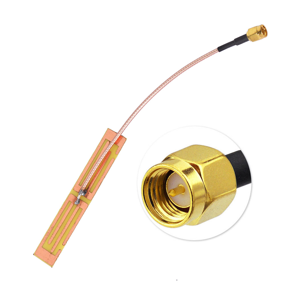 700-2600MHz 5dBi 4G Internal PCB <strong>Antenna</strong> with SMA Plug extension cable RG316 10cm