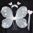 children's day white butterfly wing 3 piece set