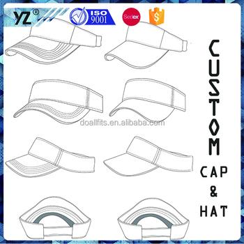 74c20f7a China caps hats factory custom design sun visors caps and hats golf visor  hunting hat cheap