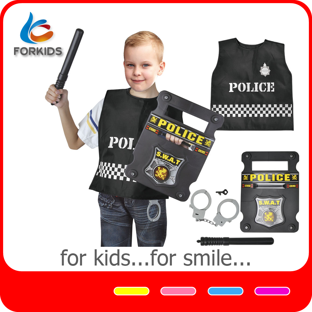 7pcs kids office police play set toys uniform role play costume