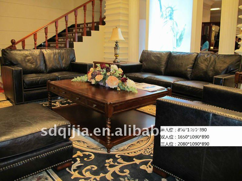 American Luxury Classic Living Room Royal Furniture Sofa Set   Buy Royal  Furniture Sofa Set,Full Grain Leather Sofa,Classic Wood Frame Leather Sofa  Product ...