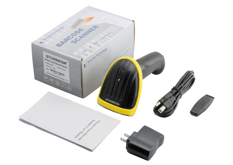 FREE SHIPMENT cheap price portable Wired Laser handheld 1D Barcode Scanner