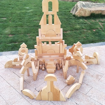 Large Wooden Outdoor Play Toys Beechwood Construction Building Blocks