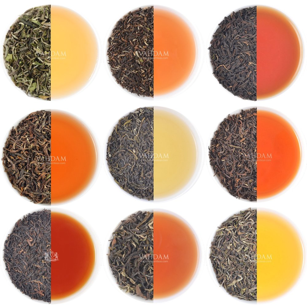 VAHDAM, 10 DARJEELING TEA SAMPLER, 50cups Assorted Tea – First Flush Spring, Summer & Autumn Teas,100% Pure Unblended Darjeeling Teas –Hot Tea Sampler, Tea Variety Pack, Loose Tea Sampler Gift Set
