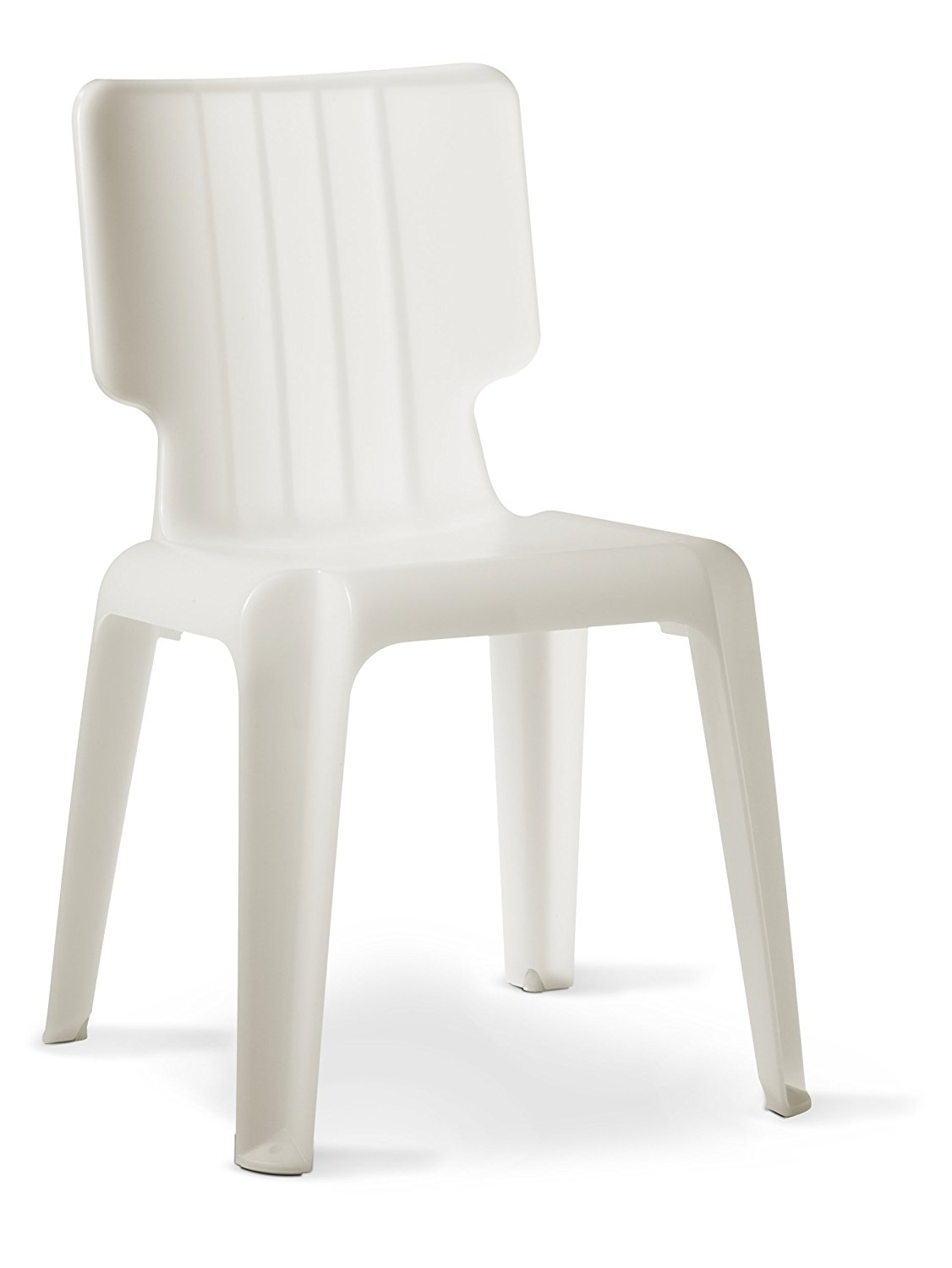 white stackable plastic chairs. Get Quotations · Authentics Wait Plastic Chair, Stackable White, Plastic, 1085028 White Chairs