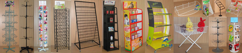retail shop steel fixture floor standing strong metal multi layers mats display shelf with wheels