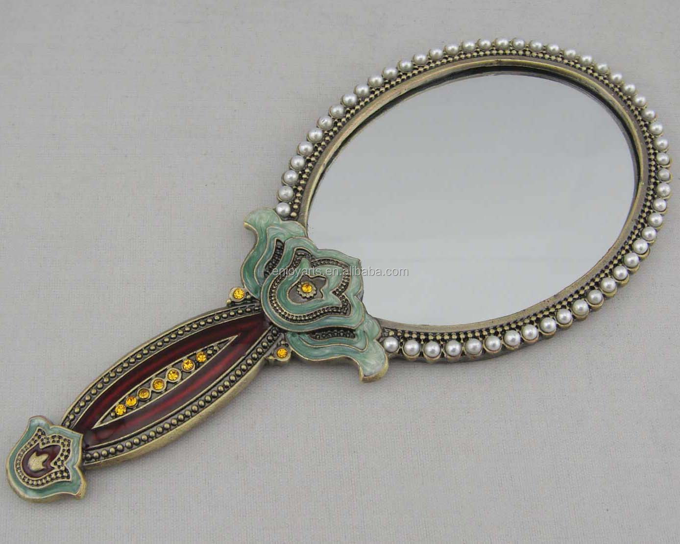 Antique hand mirror Free Clipart Hand Antique Bronze Plating Pearls Oval Metal Hand Mirror p04006a2 Picclick Antique Bronze Plating Pearls Oval Metal Hand Mirror p04006a2