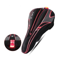 WHEEL UP High Quality Bike Seat Rain Cover With Taillight Soft Bicycle Rear Saddle Light Cover
