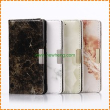 Fashion Marble Pattern Magnetic Wallet Leather Stand phone case for Sony X Compact