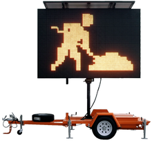 Mobile LED Variable Message Signs VMS Trailer For Sale