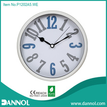 Colorful Number 12 Inch Quartz Plastic Wall Clock Handicraft