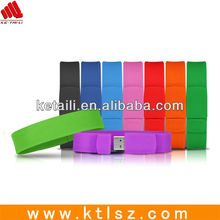 Factory silicone bracelet usb flash drive custom memory capacity