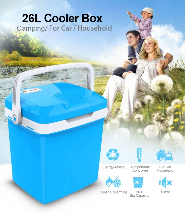 Wholesale 26L Large Capacity Multifunction Thermo Plastic Car Cooler Box