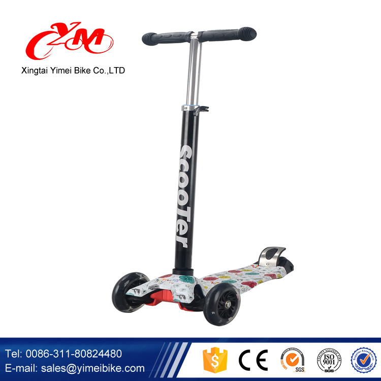 Super-strong steel T-tube kick scooters for kids / Adjustable handles children foot scooters / cheap child scooter manufacture