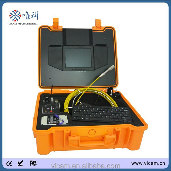 Hot sale plumber tools surveillance drainage video camera with meter counter and keyboard function