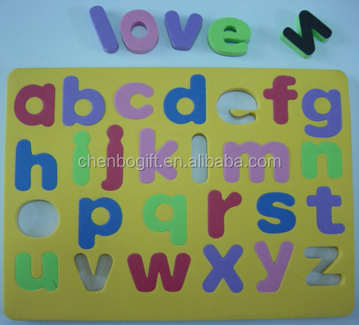 eco-friendly personalized custom childern magnetic eva foam Letters fridge magnet puzzle