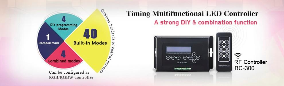 Programmable 12V 24V RF remote control DMX led controller RGB pixel led controller
