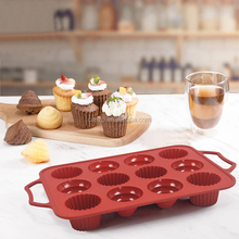 Wholesale Custom Nonstick 3D Silicon Baking Chocolate Candy Cupcake Flower Mould Silicone Cake Mold