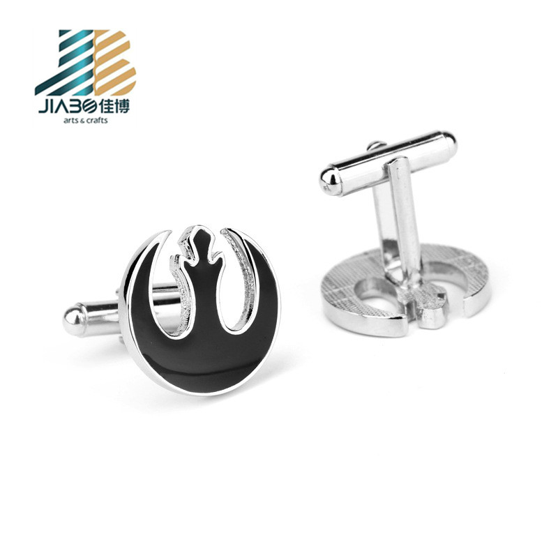 Free sample custom black cufflinks in sterling silver and tie clip sets