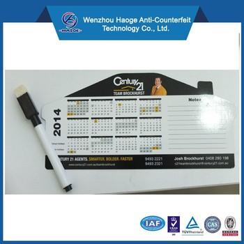 House shape real estate magnetic calendarsmemo calendar magnetsmagnetic yearly calendar