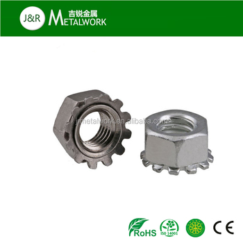 Hexagon Head A2-70 Stainless Steel Kep K Nut