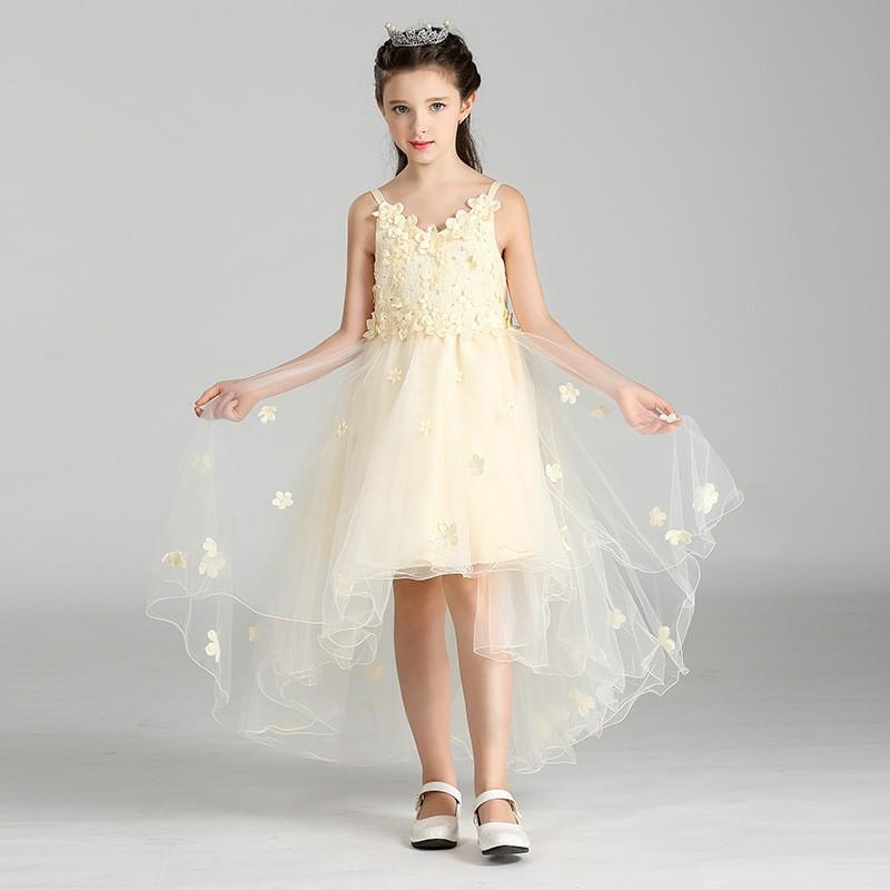 new modle 2017 design flower girl tutu dress vest long maxi wedding