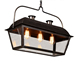 Antique Iron Frame Glass Box Pendant Lighting For Hotel,Home