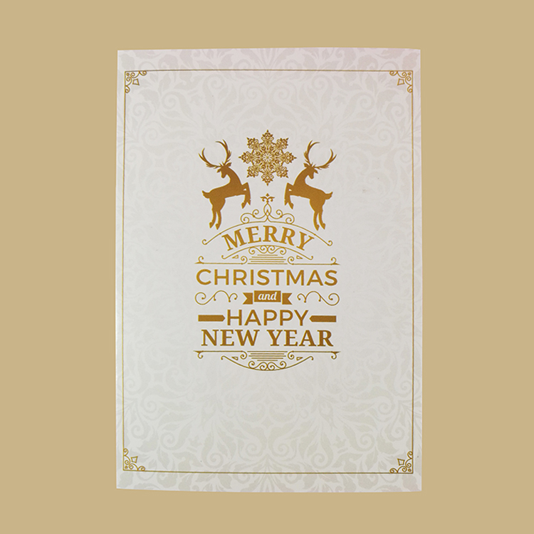 China Factory Supply Attractive Price Custom Christmas Greeting Card