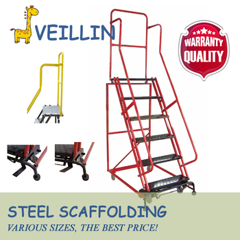 Metal Library Loft Steel Frame Warehouse Ladder With Handrail - Buy ...