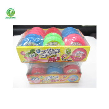 natural color Bubble gum rolls(tattoo inside)original:30 rolls-per box