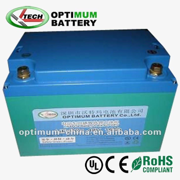 Wholesale LiFePO4 48v 15ah scooter battery with bms