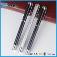 office/school stationery free sample advertise metal roller pen for meeting record and class notes